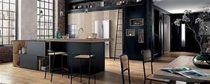 Cuisine moderne ilot type loft ambiance factory mobalpa for Couleur qui va avec le gris clair 12 ambiance parquet choisissez la vatre