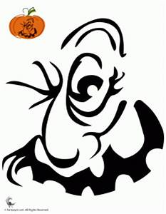 free pumpkin carving patterns With evil face pumpkin template