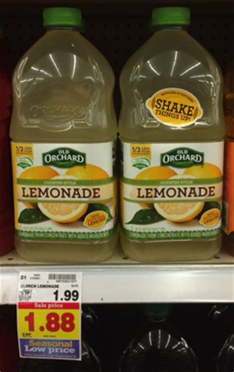 Old Orchard Country Style Lemonade Only $138 At Kroger