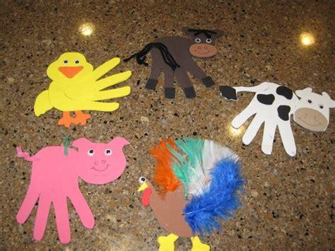handprint farm animal craft crafts and worksheets for 860 | 5bc663015749b83cd577ef9752dd56b2