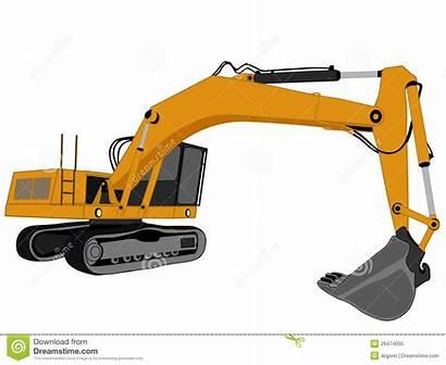 Excavator Vector Clipart Cat Mining Royalty Illustration
