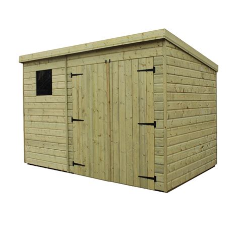4 x 10 shed 10 x 4 pressure treated tongue and groove pent shed with 1