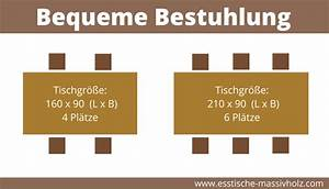 Esstisch Für 6 Personen : die optimale gr e f r ihren massivholz esstisch w hlen esstische massivholz ~ Markanthonyermac.com Haus und Dekorationen