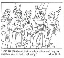 Stripling Warriors Coloring Page