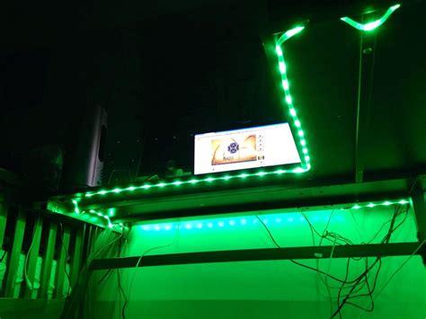 desk with led lights game gaming desk led 150 lights color select 8ft