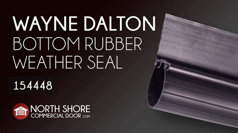 garage dalton wayne door seal bottom doors weather rubber steel classic