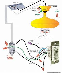 Hampton Bay Ceiling Fan Wiring Diagram Youtube
