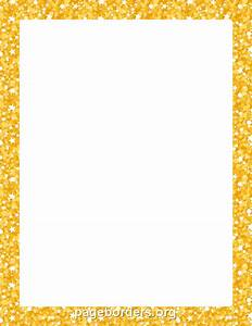 Printable gold glitter border. Use the border in Microsoft ...