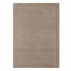 tapis moderne en laine taupe fait main en inde With tapis laine moderne