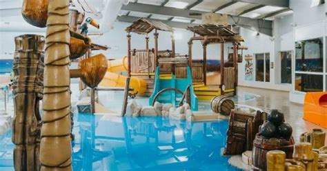 tropical island themed family swimming pool opens