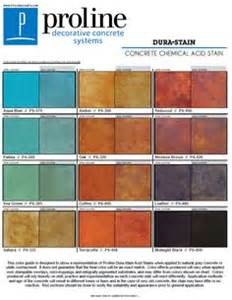 Rustoleum For Concrete Floors by Dura Stain Acid Stain Color Chart Offered By Proline