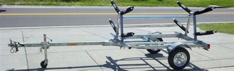 kayak rack for trailer aluminum kayak and board trailers kayracks