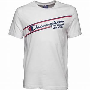 T Shirt Champion Homme : champion tee shirt sports logo homme blanc ~ Carolinahurricanesstore.com Idées de Décoration