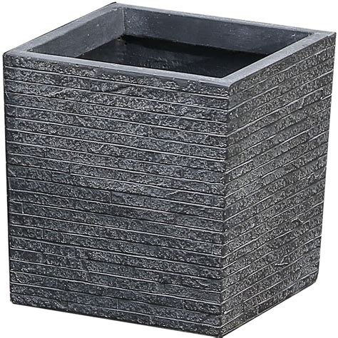 Faux Stone Planter In Outdoor Planters