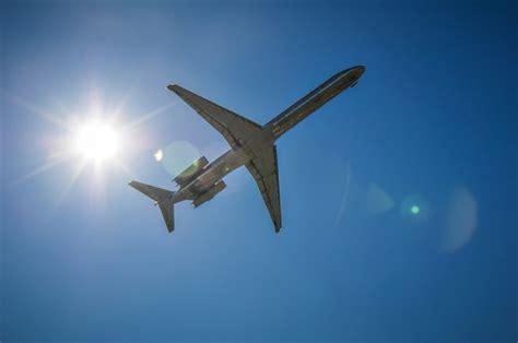 jet airplane   sky  sun  stock photo public