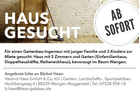 Haus Zur Miete In Coesfeld Gesucht by Haus Wohnung F 252 R Neuen Mitarbeiter Gesucht Haas Galabau De