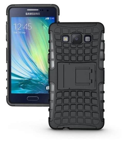 samsung galaxy e7 case with stand by cel black plain