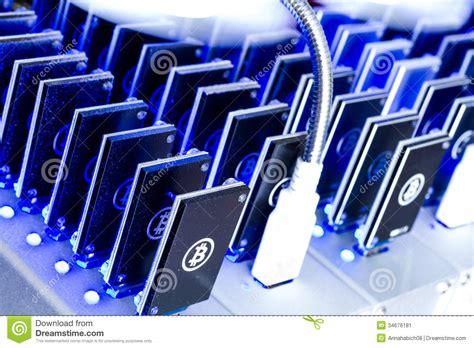 bitcoin mining device bitcoin mining stock image image 34676181