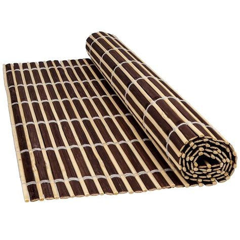 large table placemats bamboo wood table placemats serving dining sushi oriental large roll up mats ebay