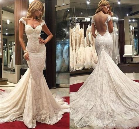 Gorgeous Mermaid Backless Wedding Dresses 2015 Sweetheart