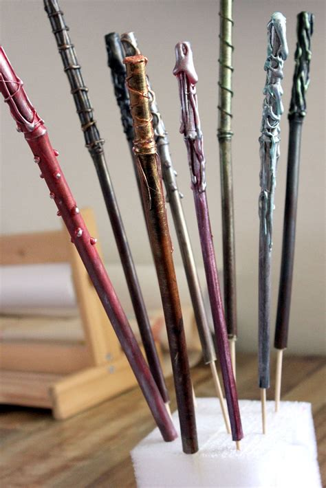 wand design ideas wand tutorial for diy craft at a harry potter party hideous dreadful stinky