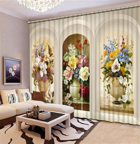 style curtains  living room relief roman
