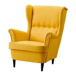 sofa sessel ikea strandmon wing chair skiftebo yellow ikea