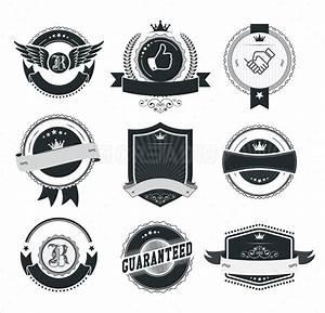 Set of vintage badges and labels template - Creadib.com