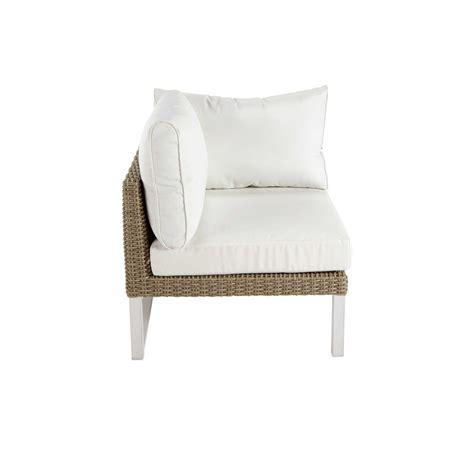 accoudoir de canapé accoudoir gauche de canapé de jardin en aluminium blanc