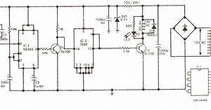 Schematic Diagram  Simple Touch Operated Switch Circuit Diagram Using Ic 555