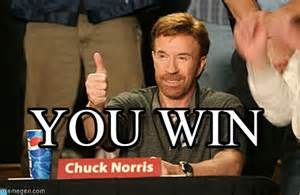 Chuck Norris You Win Meme