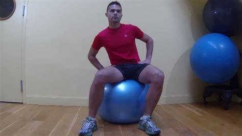 etirement dos ballon position assise par guide du mal