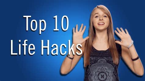 Jennxpenn's Top 10 Life Hacks Youtube