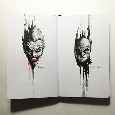 joker  batman drippingportraits  kerbyrosanes