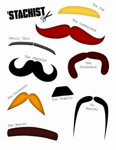 moustache outline template clipart best With mustache print out template