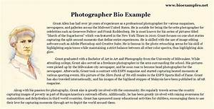 photographer biography sample bio examples pinterest With photography bio template