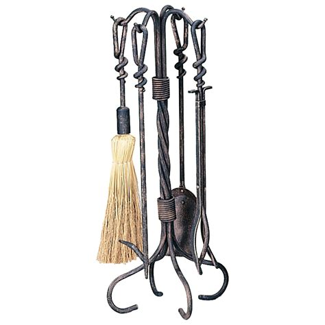 Uniflame Antique Rust Fireplace Tool Set Fireplace Tools