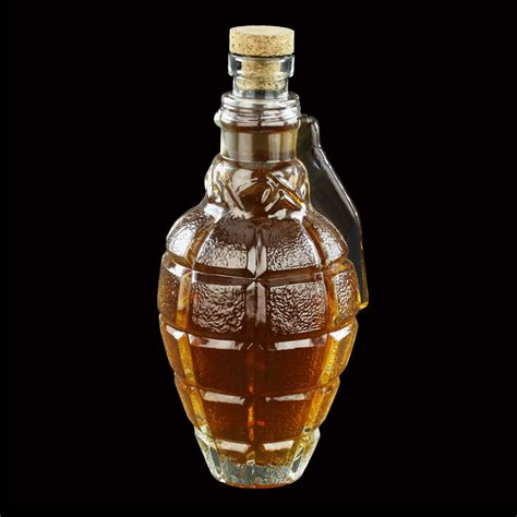 glass carafe grenade glass whiskey decanter the green