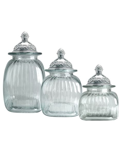 clear glass kitchen canister sets 23 best santa cecilia granite images on white
