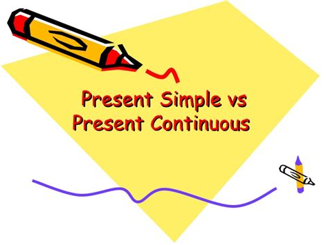 Present Simple Vs Present Continuous Ppt