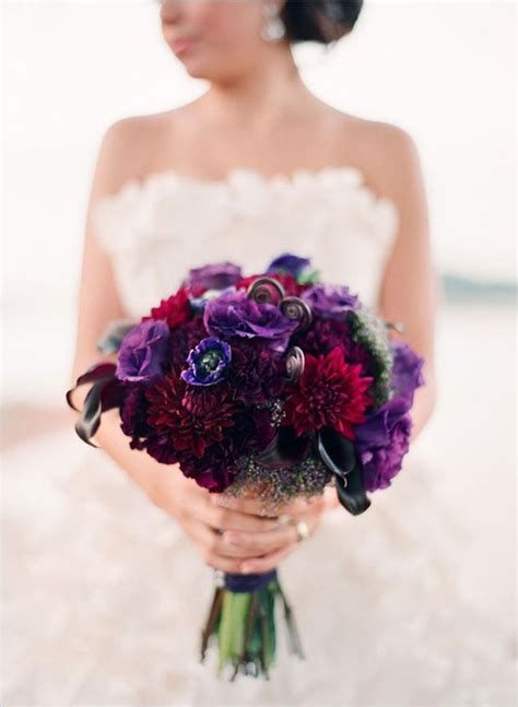 purple gold  ivory wedding ideas red wedding