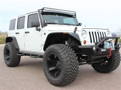 white jeep unlimited lifted jeep wrangler unlimited sahara black image 218