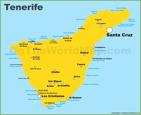 Tenerife Maps Canary Islands Spain Map Of Tenerife