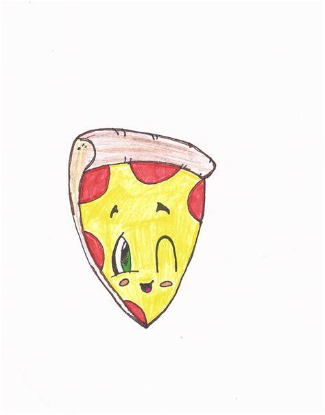 cartoon pizza drawing oliviag   sep