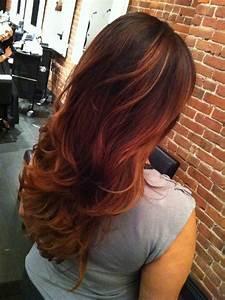 Ombré Hair Auburn : brown to auburn ombre hair hair nails by dylan vancouver bc canada auburn ombre cut ~ Dode.kayakingforconservation.com Idées de Décoration