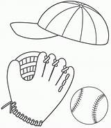 Coloring Baseball Glove Balls Ball Cap Stuff Softball Sport 86ef Printable Drawing Rugby Stadium Fathers Clipart Father Bigactivities Pich Fast sketch template