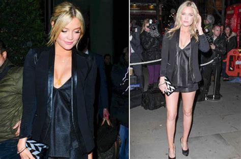 laura whitmore flaunts    leg  cleavage