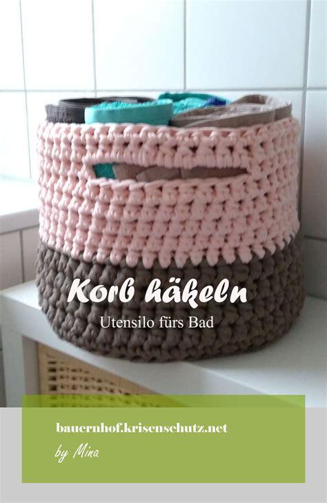 Korb Selber Nähen by Anleitung Korb Aus Textilgarn H 228 Keln Diy F 252 Rs