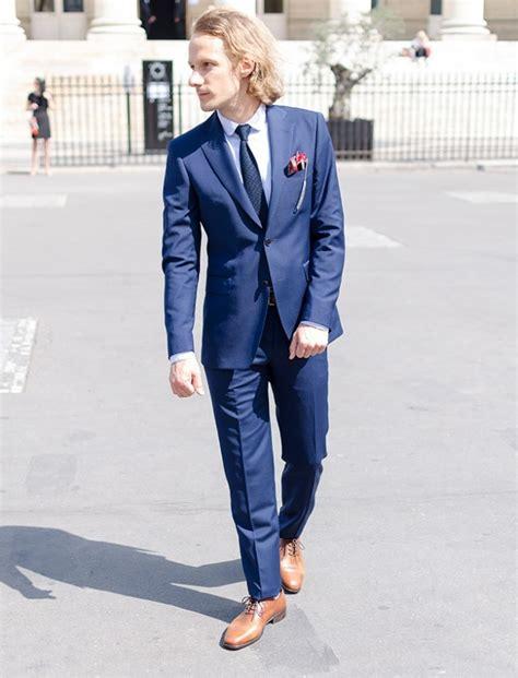 costume bleu chaussure marron conseils choisir des souliers homme adapt 233 s 224 style bonnegueule