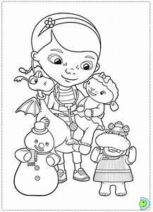 Free coloring pages of doc mcstuffins and lambie